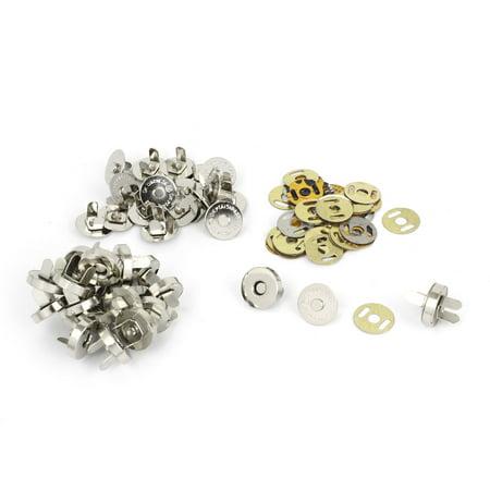 Unique Bargains 14mm Dia Magnetic Purse Snaps Closures Button Sewing Bag Clasps 20 Sets ()