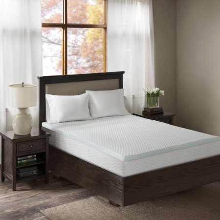 comfort classics 3 gel memory foam mattress topper with cooling cover. Black Bedroom Furniture Sets. Home Design Ideas