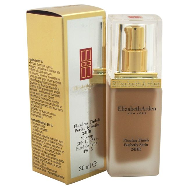 Elizabeth Arden Flawless Finish Perfectly Satin 24HR Makeup Broad Spectrum Sunscreen SPF 15 - Chestnut 18
