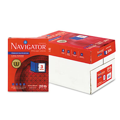 Premium Multipurpose Paper, 97 Brightness, 3-Hole Punch, 20lb, Ltr, WE, 5000/Ctn, Sold as 1 Carton, 10 Ream per Carton