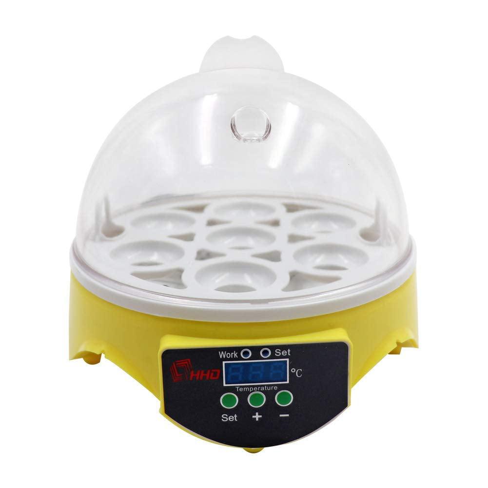 Egg Incubator,Digital Transparent Home Mini Hatching 7 Egg Capacity Incubator Egg Hatcher For Goose Birds Chicken Duck