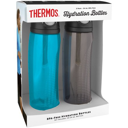 Thermos 24-oz  Hydration Water Bottle, 2 pack - Teal/Smoke