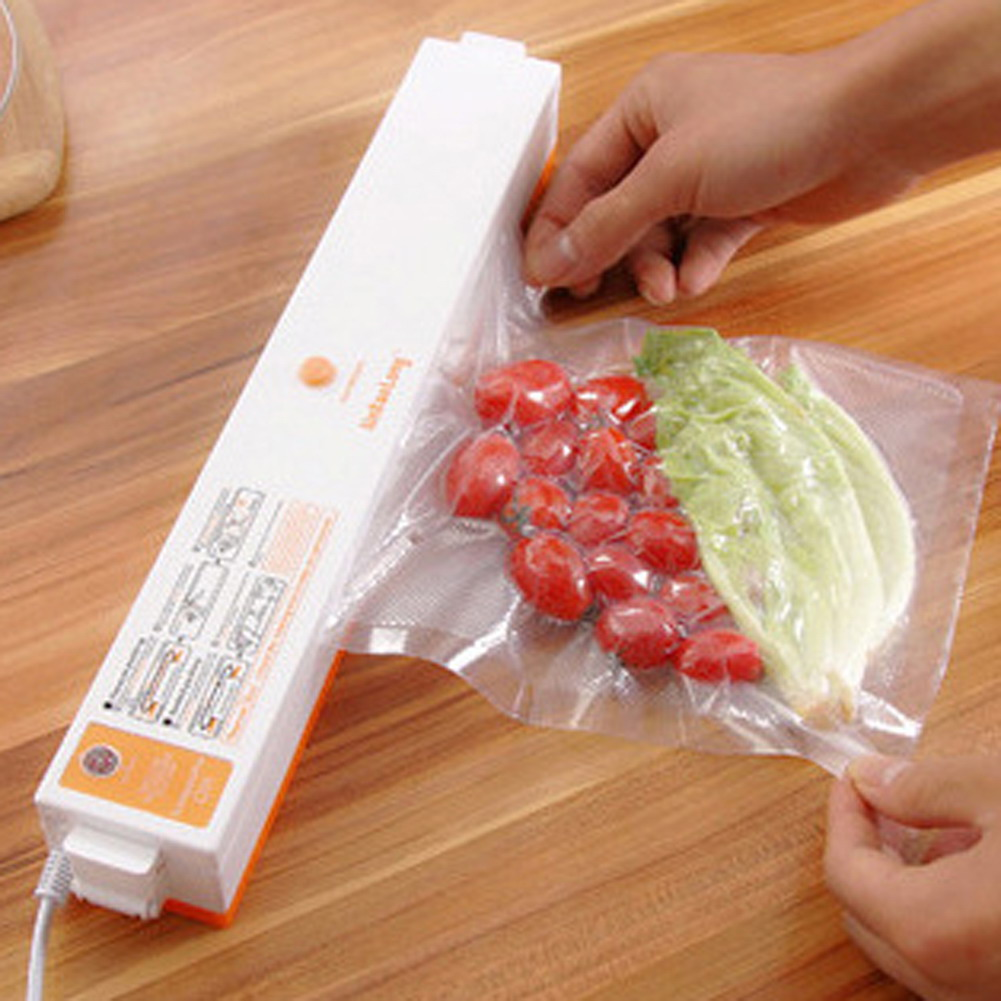 Automatic Electric Kitchen Vacuum Food Sealer Machine Fresh Food Fruit Saver Bag