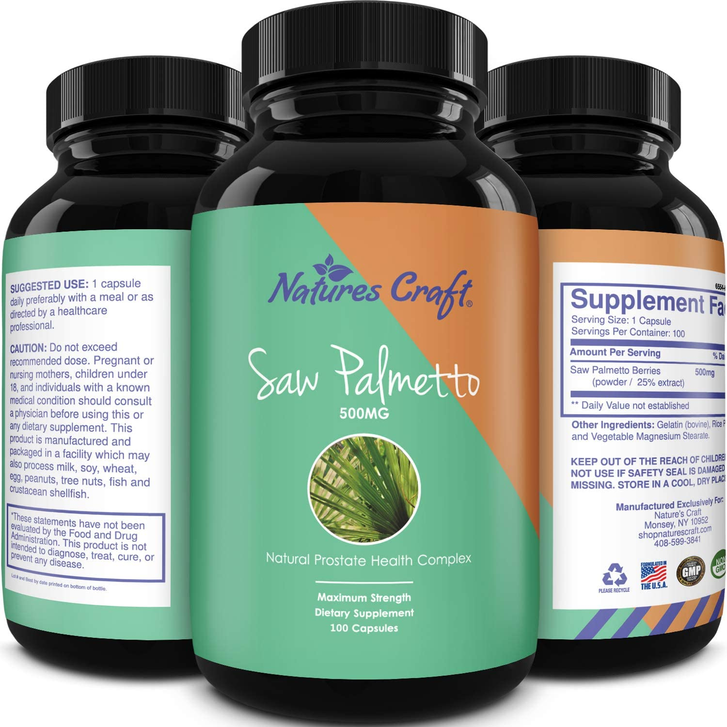 Natures Crafts Saw Palmetto Extract Berry Hair Loss