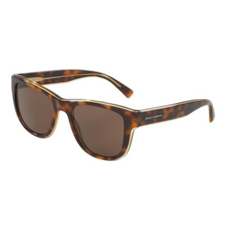 New Dolce Gabbana Sunglasses (DOLCE & GABBANA Sunglasses DG4284 304973 Top Havana On Transparent Yellow 54MM)