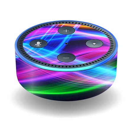 Skin Decal Wrap For Amazon Echo Dot  2Nd Generation  Stickers Light Waves
