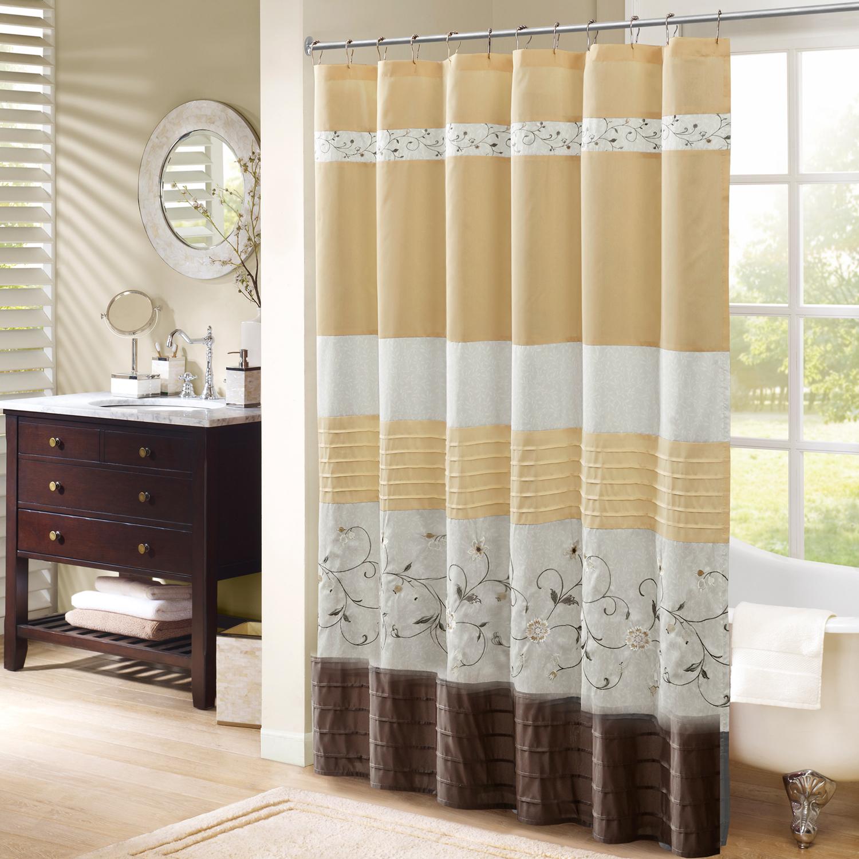 Home Essence Monroe Embroidered Shower Curtain - Walmart.com