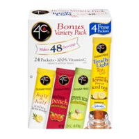 (6 Pack) 4C Totally Light 2Go Drink Mix, Bonus Variety, 1.7 Oz, 24 Packets, 1 Count