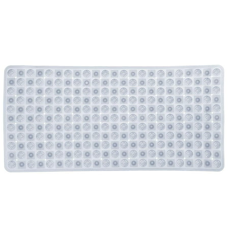 PVC 16x34 Inch Bubble Tub Mat, Slip Resistant Shower Tub Mat with Suction Cups, Clear (Maax White Tub)
