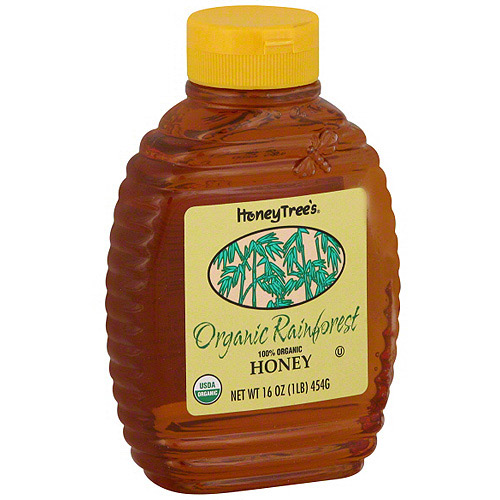Honey Tree's Organic Rainforest Honey, 16 oz (Pack of 6)