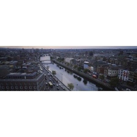 High angle view of a city Dublin Leinster Province Republic of Ireland Canvas Art - Panoramic Images (18 x 6) (City Of Dublin Ohio Halloween)