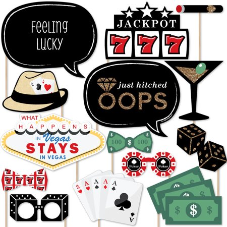 Las Vegas - Casino Photo Booth Props Kit - 20 Count](Casino Supply Store)
