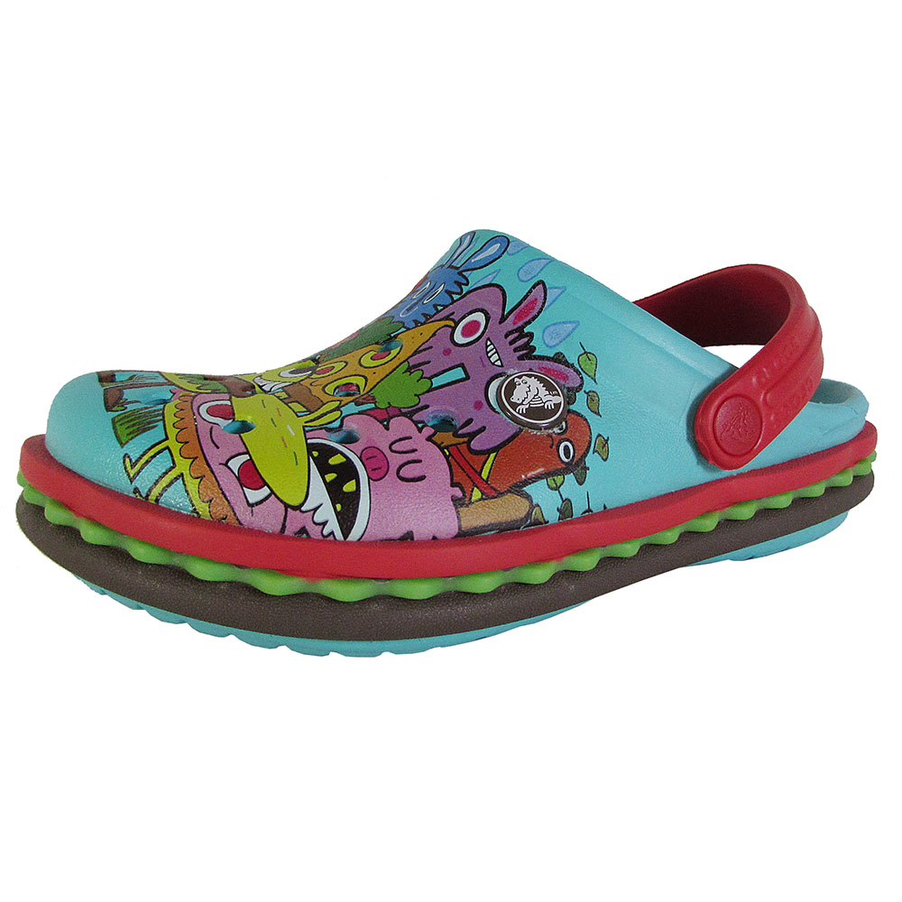 Crocs Juniors Burger Slip On Graphic Clog Shoes by Crocs