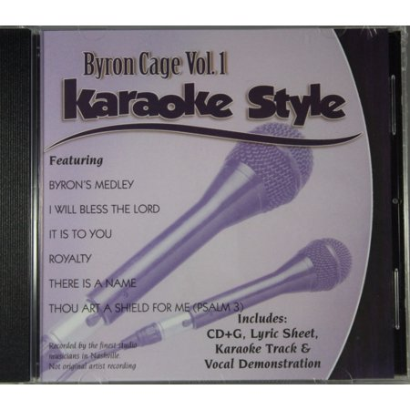 - Byron Cage Volume 1 Daywind Christian Karaoke Style NEW CD+G 6 Songs