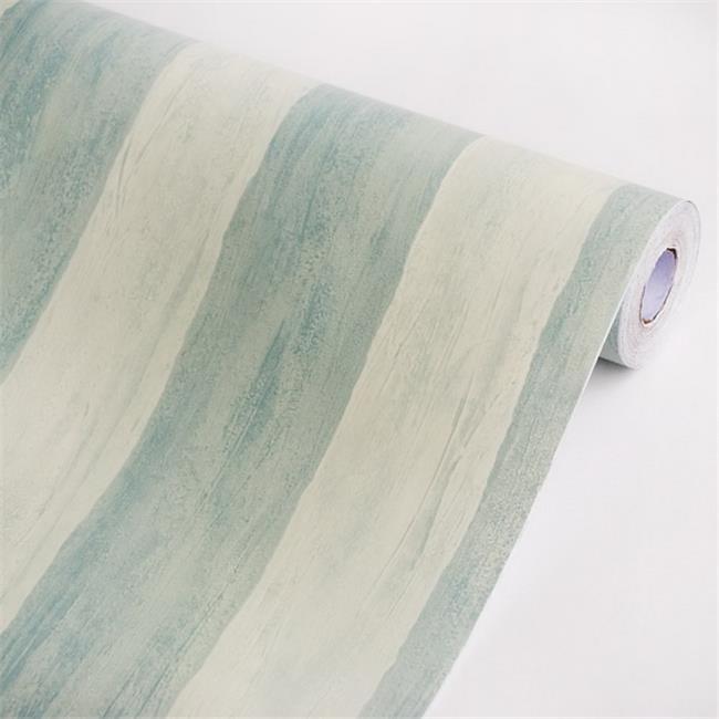 p1133-4-ROLL Light Blue Stripe - Self-Adhesive Wallpaper Home Decor Roll  Multicolor