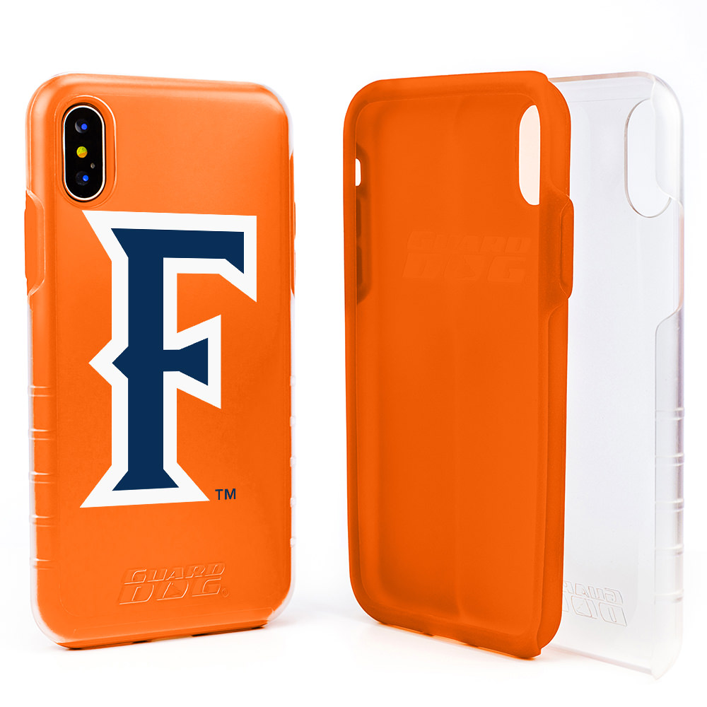 Cal State Fullerton Titans DP1 Hybrid Case for iPhone X / Xs - Clear with Orange