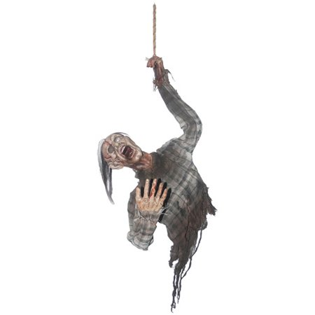 Halloween Zombie Face Ideas (Hanging Bloody Zombie Torso Halloween)