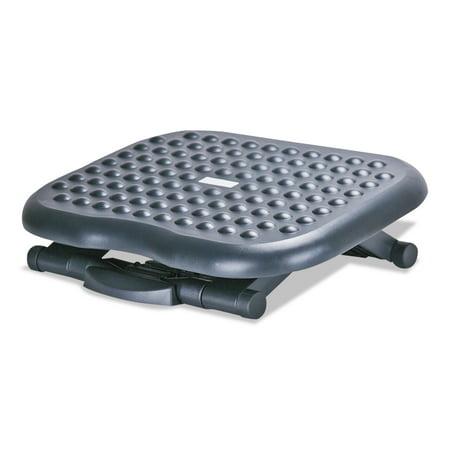 Footease Adjustable Footrest (Alera Relaxing Adjustable Footrest, 13 3/4w x 17 3/4d x 4 1/2 to 6 3/4h, Black -ALEFS212)