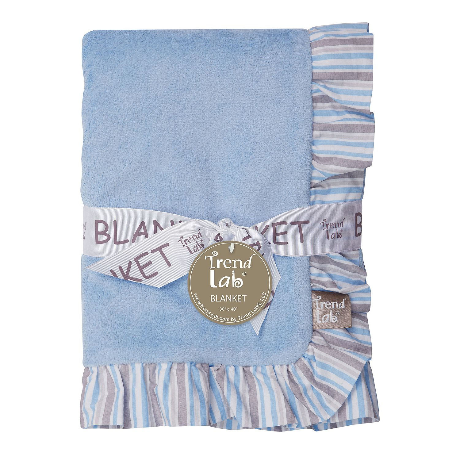 Product of Trend Lab Ruffle-Trimmed Receiving Blanket, Logan Blankets & Throws [Bulk Savings] by Product of Trend Lab