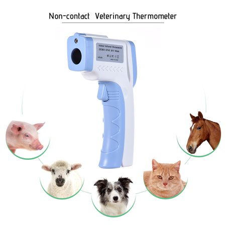 Digital Pet Thermometer Non-contact Infrared Veterinary Thermometer for Dogs Cats Horses and Other Animals C/F Switchable (Pen Thermometer)