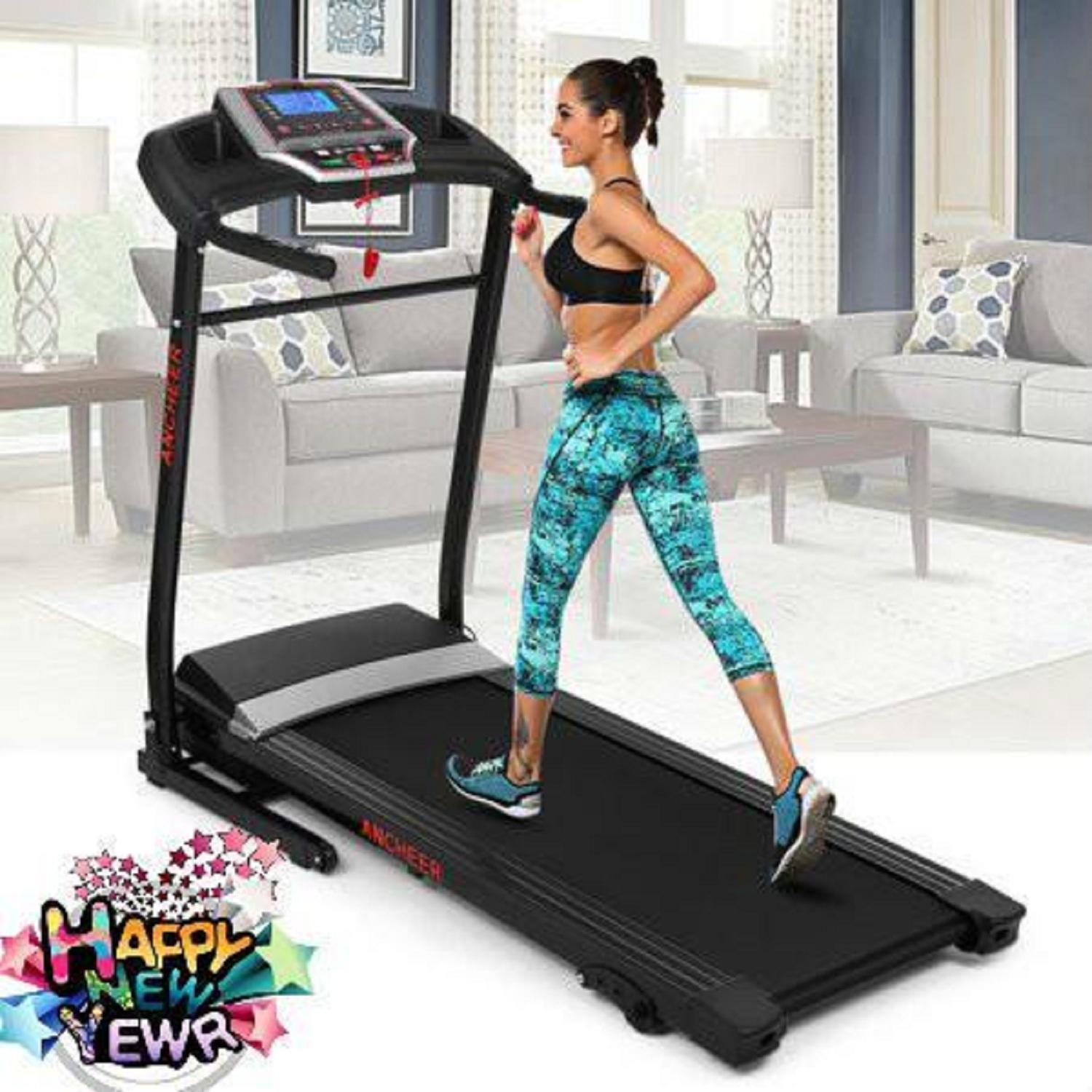 N ew 2.25 H P Folding Electric Treadmill Motorized Power Adjustable Incline Machine Running Machine With P01-P12 Programs And USB/MP3 HFON