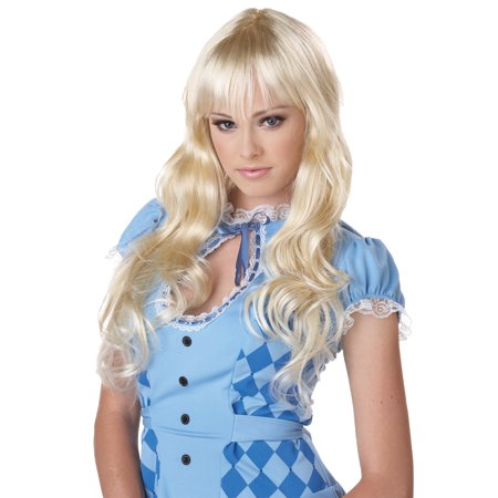 Blonde Coquette Wig Adult Halloween - Blonde Wig With Bangs