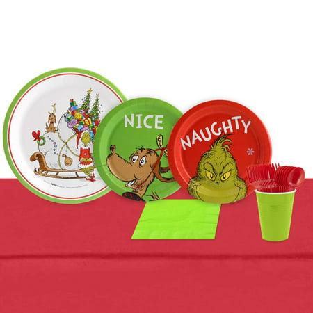 Dr. Seuss Grinch 16 Guest Party Pack (Dr Seuss Party Plates)