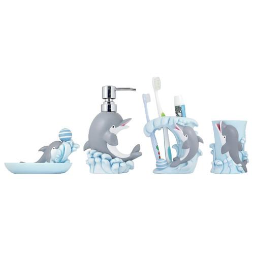 modona dolphin 4 bathroom accessory set walmart