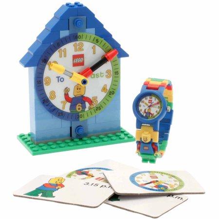 LEGO Boy Time Teacher Kids' Interchangeable Links Minifigure Watch and Clock