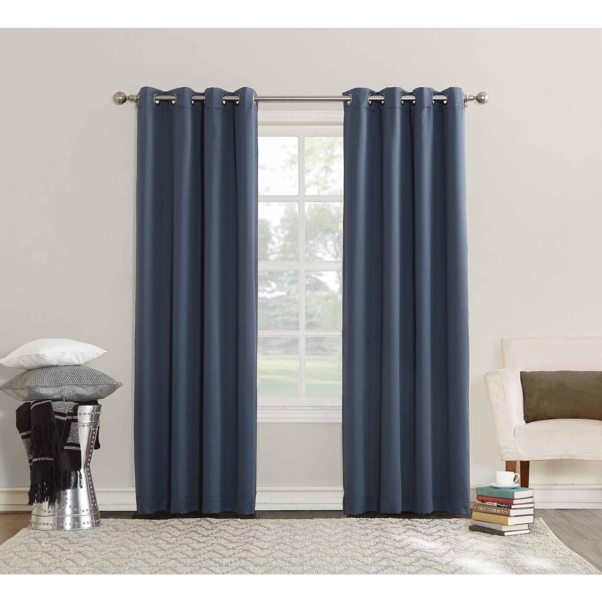 Sun Zero Ella Room Darkening Triple Lined Grommet Curtain Panel by S. Lichtenberg & Co.