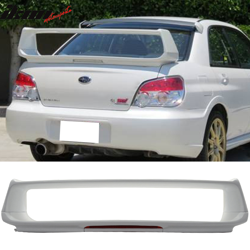 compatible with 02 07 subaru impreza wrx sti oe trunk spoiler wing 3rd brake light walmart com walmart com compatible with 02 07 subaru impreza wrx sti oe trunk spoiler wing 3rd brake light walmart com