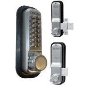 Lockey 2200KO Satin Chrome 2000 Series Surface Mount Keyless Entry Single Combination