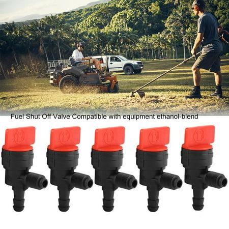 Zerone 5PCS 90° Gas Fuel Shut Cut Off Valves 1/4 Inline for ATV Go Kart Mower