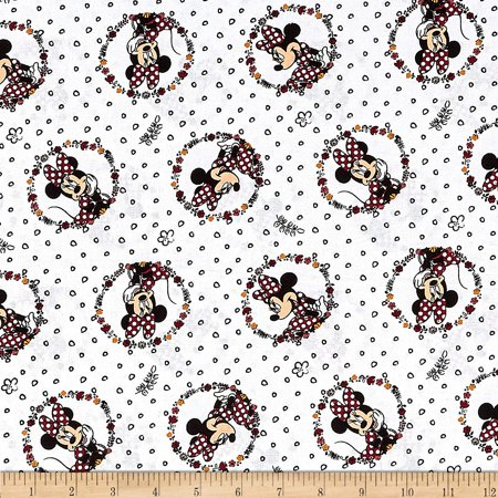 Springs Textiles Disney Traditional Minnie Badge Multi Fabric