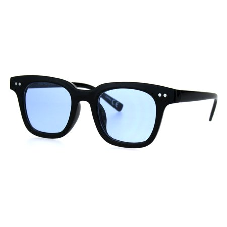 Mens Vintage Style Small Horn Rim Pop Color Lens Hippie Sunglasses (Hippie Style Sunglasses)