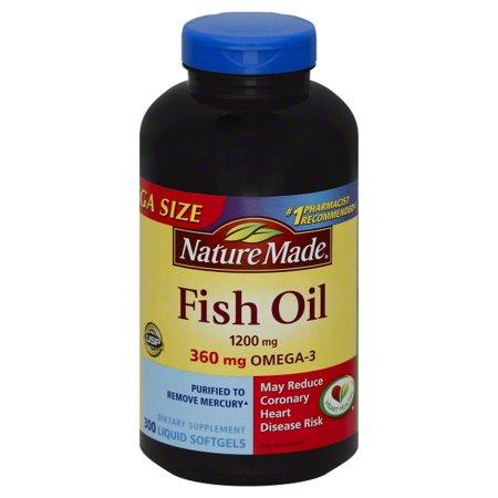 Nature made fish oil 1200 mg 360 mg omega 3 softgels mega for Nature made fish oil 1200 mg 360 mg omega 3
