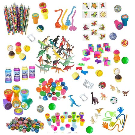 168 Pc Party Favor Toys For Kids - Bulk Party Favors For Boys And Girls - Awesome Toys For Goody Bags, Pinata Fillers or Prizes For Birthday Party - Halloween Games For Office Parties