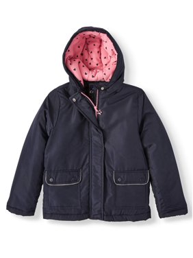 Climate Concepts Polar Fleece Lined Hooded Jacket (Little Girls & Big Girls)