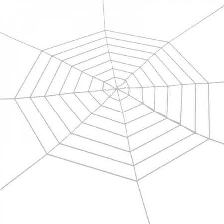Halloween Scary Black/White 1.5M Spider Web Spider Haunted House Bar Props for Halloween Party Scene Props Decoration