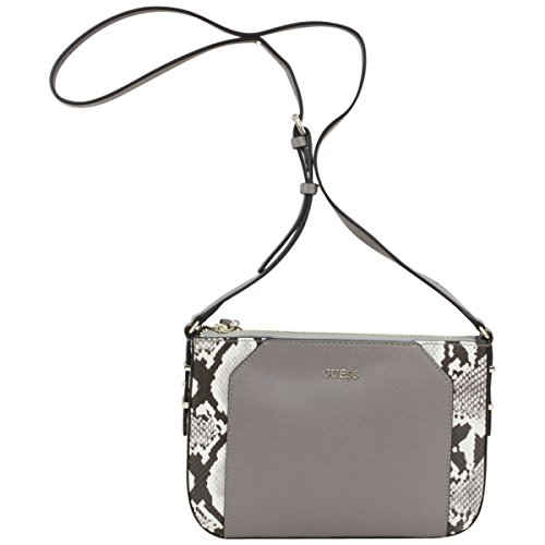 Guess Women's Devyn Mini Pebbled Taupe Multi Crossbody Handbag