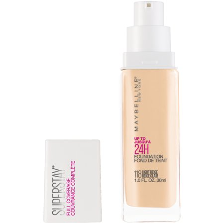 Maybelline Super Stay Full Coverage Liquid Foundation Makeup, Light