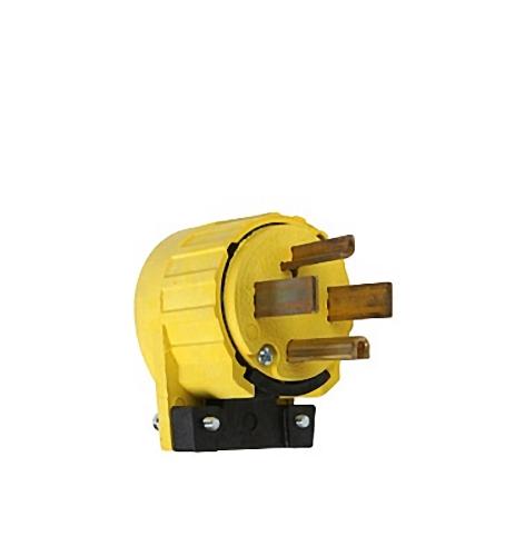PASS & SEYMOUR 5746AN Yellow Angled Plug 30A 125/250V