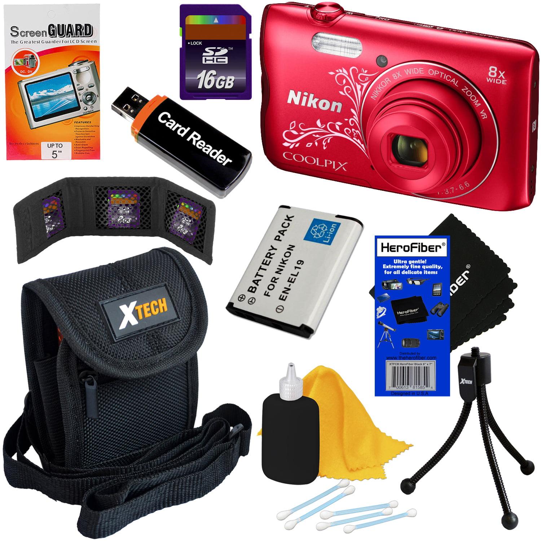 Nikon COOLPIX A300 20MP Digital Camera with 8x Zoom & Bui...