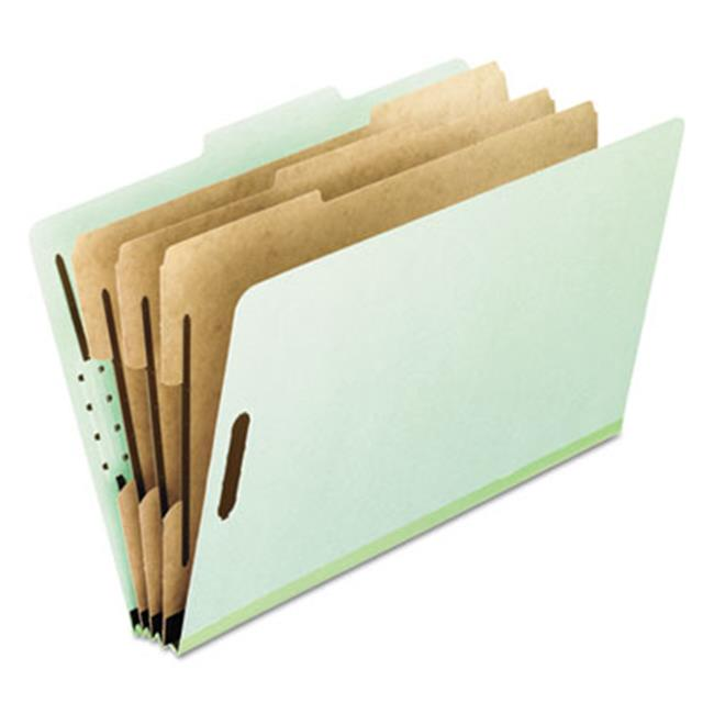 Pressboard Classification Folders, Letter, 1 divider-8-Section, Green, 10-Box