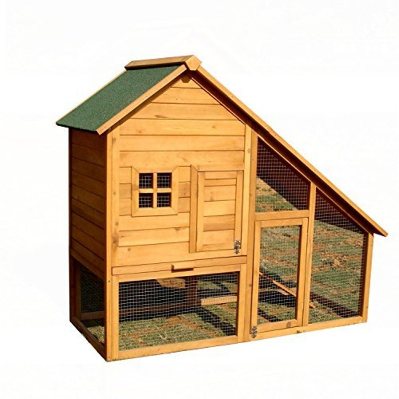 ALEKO ACCRH55X26X47 Wooden Pet House Poultry Hutch