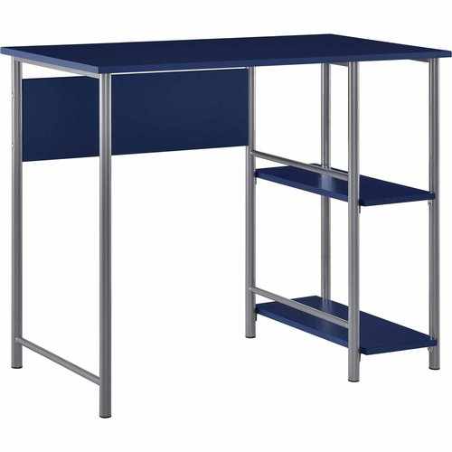 Mainstays Garrett Metal Office Desk With 2 Side Shelves, Multiple Colors
