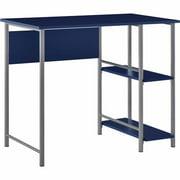 office glass desks. Mainstays Garrett Metal Office Desk With 2 Side Shelves, Multiple Colors Glass Desks