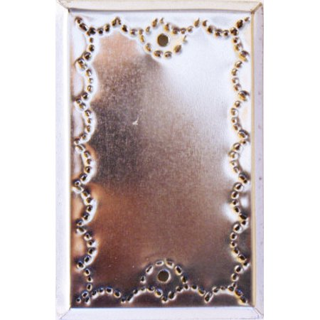 Tin Single Switchplate - Single Cover Silver Tin Switchplate