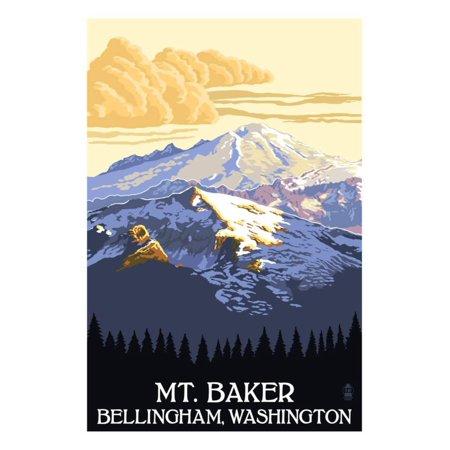 Mt. Baker, Washington Print Wall Art By Lantern Press