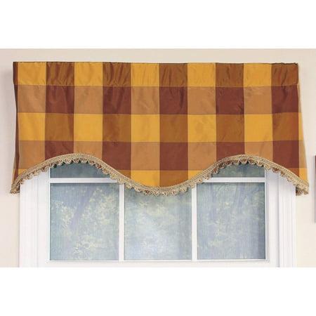 cornice window valance easy diy rlf home pascal check bronze cornice window valance walmartcom
